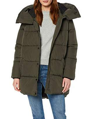 7bb45607b2f Only Women's Onlaugusta Quilted Coat OTW Jacket, Green (Peat Peat),  (Manufacturer