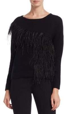 Feather Trim Sweater