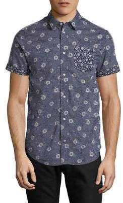 Scotch & Soda Floral Cotton Sport Shirt