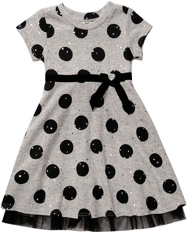 Youngland polka-dot dress - girls 4-6x