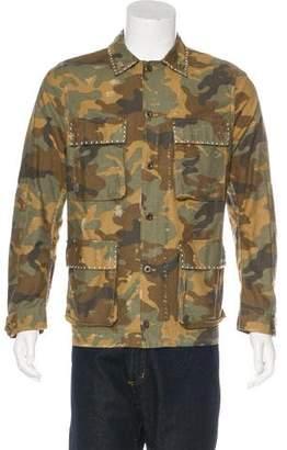 Amiri 2017 Studded Camouflage Jacket