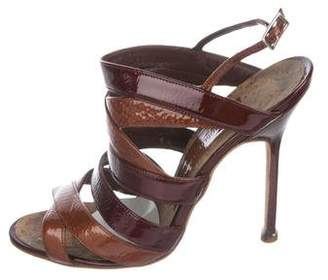 Manolo Blahnik Fulya Patent Sandals