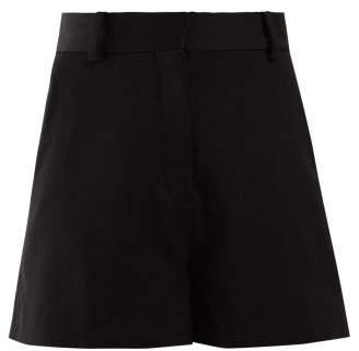 Stella McCartney High Rise Tailored Wool Shorts - Womens - Black