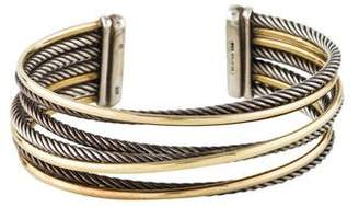 David Yurman Crossover Four-Row Cuff