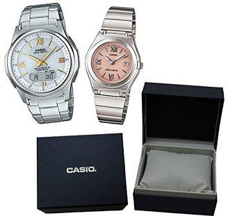【カシオソーラー電波時計ペア箱入りセット】 CASIO(カシオ) 腕時計 WVA-M630D-7A2JF メンズ ・LWQ-10DJ-4A1JF レディース ・カシオ専用ペア箱セット