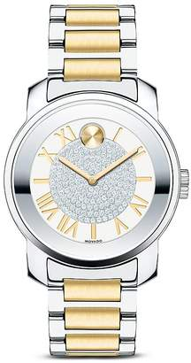 Movado BOLD Luxe Stainless Steel and Silver Tone Dial Watch, 32mm