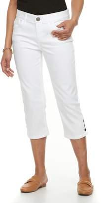 Dana Buchman Women's Button-Hem Capri Jeans