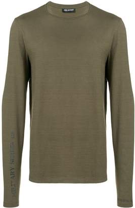 Neil Barrett stamped military sweatshirt