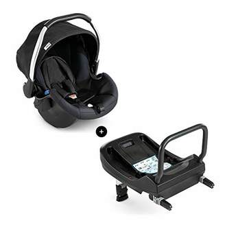 Hauck Comfort Fix Set, Lightweight Group 0 Car Seat with Isofix Base, ECE 44/04 from Birth to 13 kg, Side Impact Protection, Safety Indicators, Travel System, Black