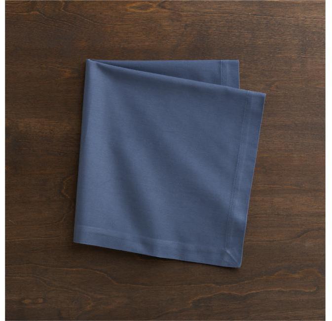 Crate & Barrel Cotton Smoky Blue Napkin