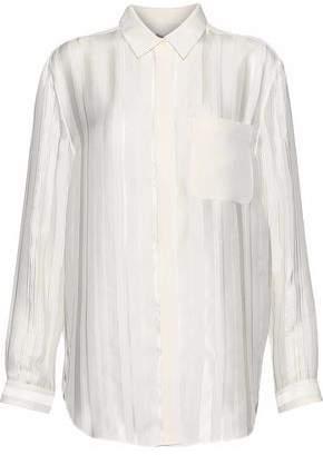 3.1 Phillip Lim Striped Fil Coupé Silk-Blend Georgette Top