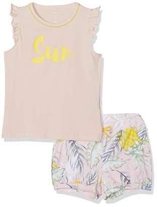 Name It Girl's Nmfjasine Ss Shortset Clothing Set, Pink Strawberry Cream, (Size: 110)