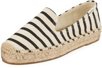 Soludos Classic Striped Canvas Espadrille Smoking Slippers