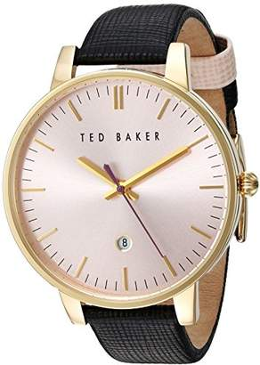 Ted Baker Women's 'Classic' Quartz Stainless Steel and Leather Dress Watch