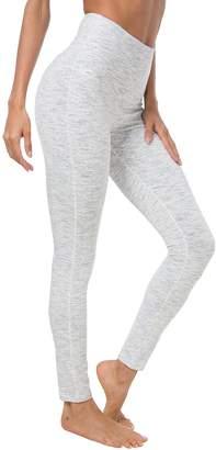 Queenie Ke Women Yoga Legging Power Flex High Waist Running Pants Workout Tights Size L Color