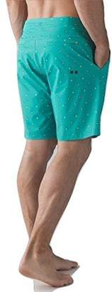 Lululemon Mens Commission Short Board Short Swim Suit Arctic Teal