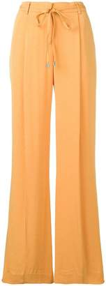 Twin-Set drawstring waist flared trousers