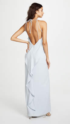 Halston High Neck Gown