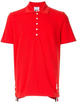 Thom Browne center-back stripe polo shirt