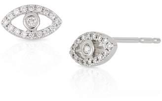 Bony Levy 18K White Gold Diamond Evil Eye Stud Earrings