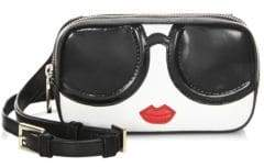 Alice + Olivia Fanny Stace Leather Clutch