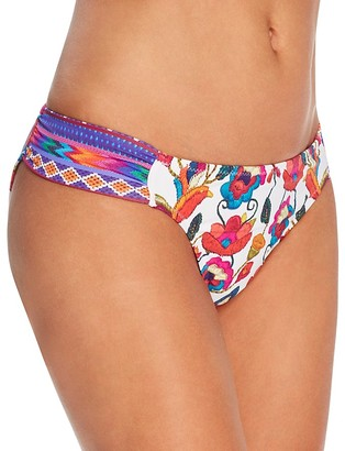 Nanette Lepore Antigua Siren Embroidery Print Bikini Bottom $72 thestylecure.com