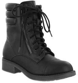 Mia Maeva Faux Leather Combat Boots