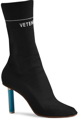Vetements - Stretch-jersey Ankle Boots - Black $1,400 thestylecure.com