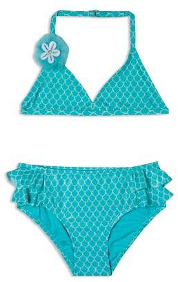 Hula Star Girls' Shimmer Mermaid Princess 2-Piece Swimsuit - Little Kid
