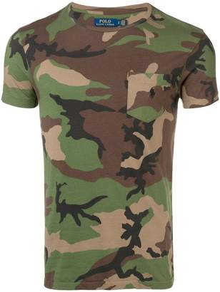 Polo Ralph Lauren camouflage print T-shirt