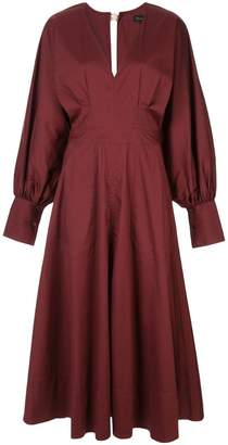 Lee Mathews Elsie v-neck long-sleeve dress