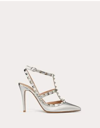 Valentino Rockstud Metallic Ankle Strap Pump 100 Mm