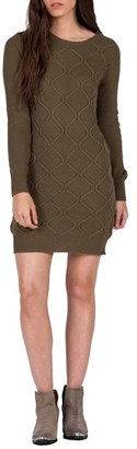 Women's Volcom Chained Down Cable Sweater Dress $59.50 thestylecure.com