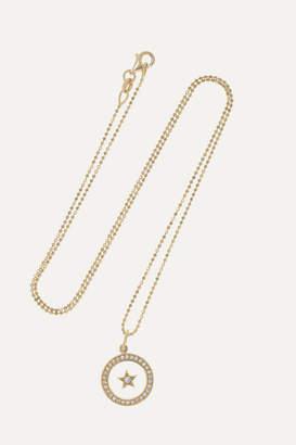 Andrea Fohrman Full/ New Moon 18-karat Gold, Enamel And Diamond Necklace
