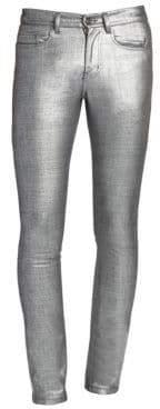 Saint Laurent Metallic Slim-Fit Jeans