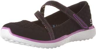 Skechers Kid's Microburst-One-Up Mary Jane Flats, Black/Purple