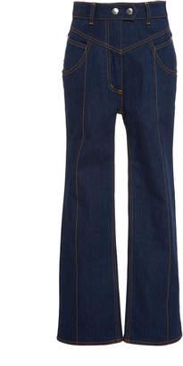 Ellery Eureka High-Waisted Flared Jeans Size: 25