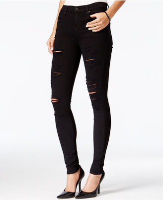 A Gold E Sophie Ripped Moonstruck Wash Skinny Jeans $138 thestylecure.com