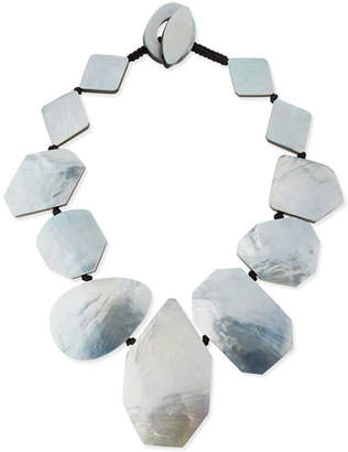 Viktoria Hayman Geometric Mother-of-Pearl Collar Necklace