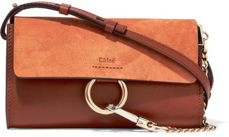 Chloé - Faye Mini Leather And Suede Shoulder Bag - Brown $795 thestylecure.com