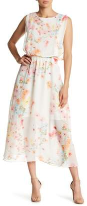 Gilli Floral Illusion Hem Midi Dress