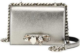 Alexander McQueen Small Metallic Jeweled Knuckle Flap Shoulder Bag