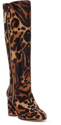 Louise et Cie Zenia Genuine Calf Hair Knee High Boot