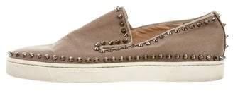 Christian Louboutin Louis Spikes Slip-On Sneakers