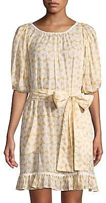 Lisa Marie Fernandez Women's Prairie Mini Floral Sheer Dress