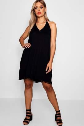 boohoo Plus Pom Pom Cami Dress