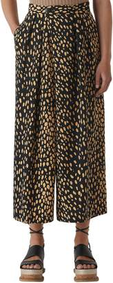 Whistles Ruth Pebble Print Wide Leg Crop Trousers
