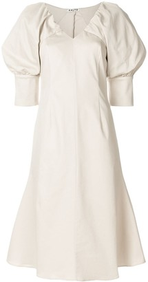 Aalto balloon sleeves dress
