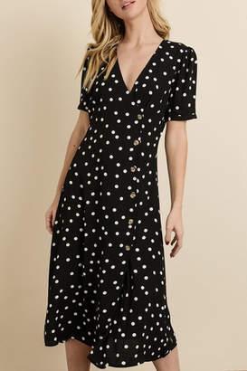 Dress Forum Polka-Dot Midi Dress