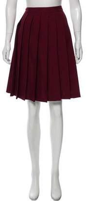 Miu Miu Knee-Length Pleated Skirt